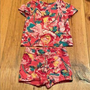 Gap floral bathing suit